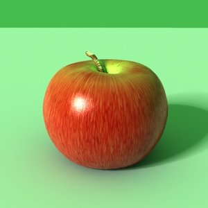 3ds photoreal apple