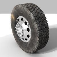 3d dirty tire model