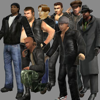 tough guys street mobster 3d model