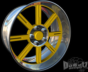 designs maverick wheels center 3d c4d
