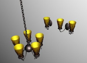 3ds max light chandelier wall sconce