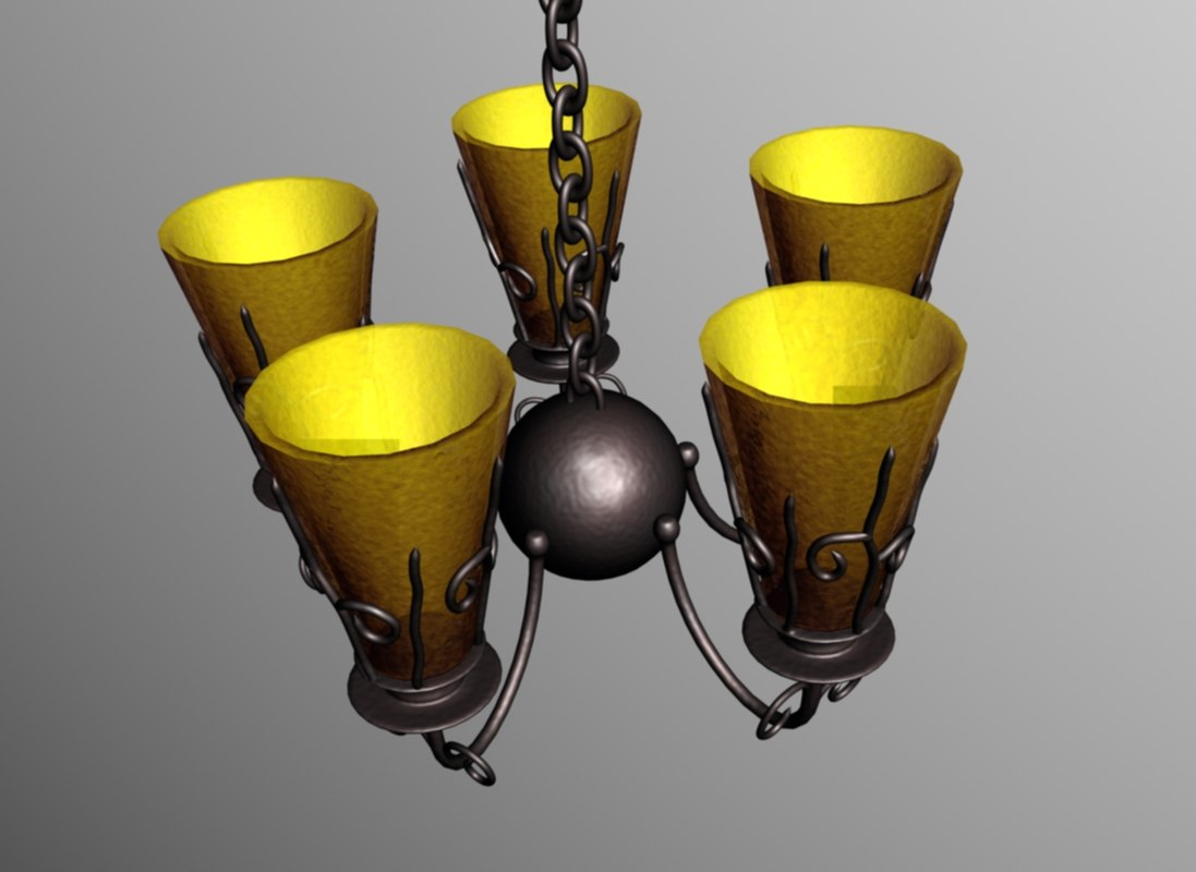 light chandelier wall sconce 3d max