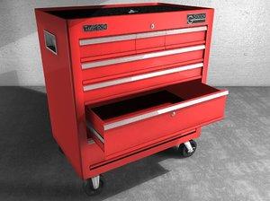 tool chest 3d model