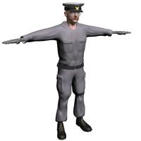 3d model ship commander
