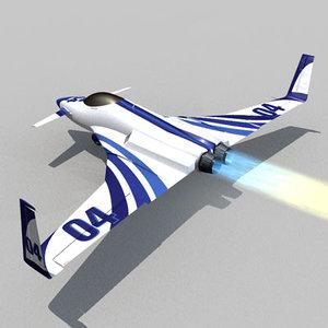 racing future aircraft c4d free