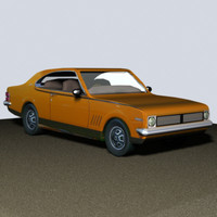 1968 holden monaro 3d model