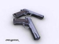 guns pistols weapons 3d model
