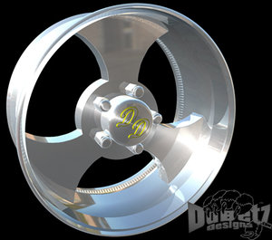 3d wheels rims center model