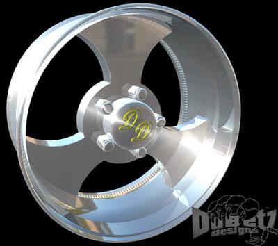 3d wheels rims center model