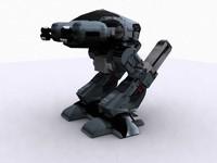 robocop ed209 characters 3d model
