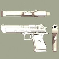 desert eagle handgun 3d model