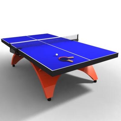 3d model table tennis paddles