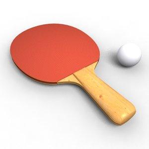 table tennis paddle lwo