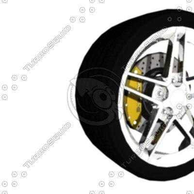 3d model of tire rim