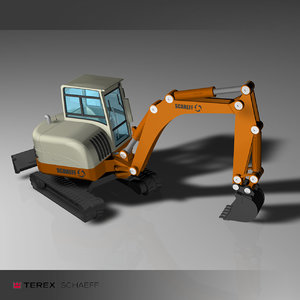 crawler excavator 3d model