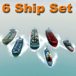 3d model ship maritime