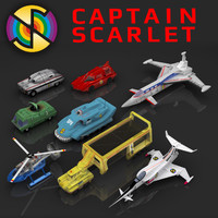 3d captain scarlet vehicle model