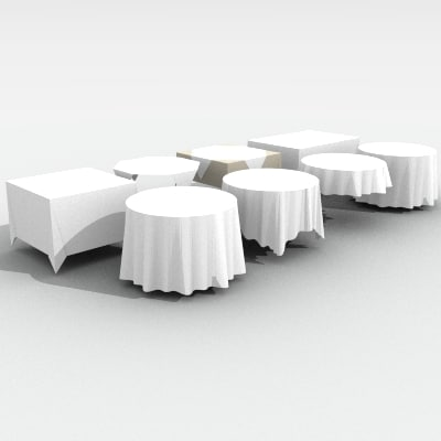 tablecloth cloth table 3d model