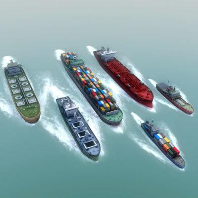 3d ship ocean model