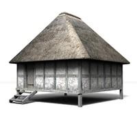 3dsmax medieval granary