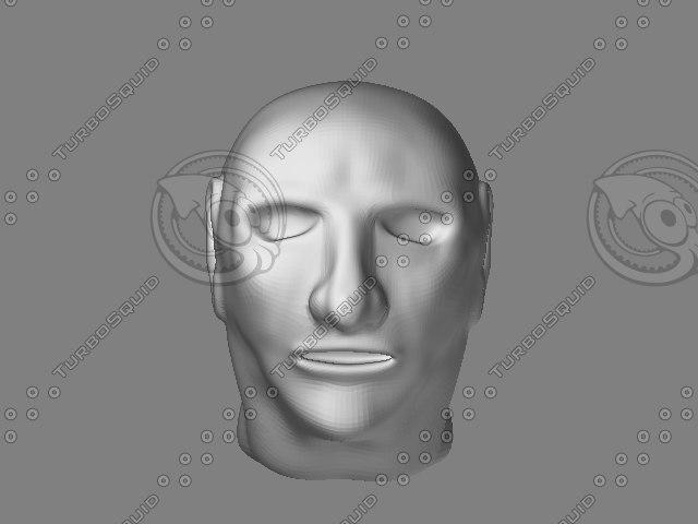 head 3d obj