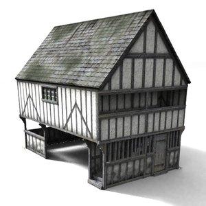 3d medieval markethall