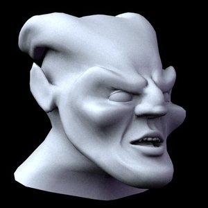 head creature 3d model