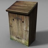 3d model latrine klo