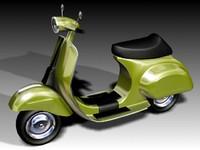 vespa motorcycle 3d max