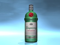 3d model tanqueray bottle