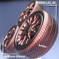 wheel 02 3d 3ds