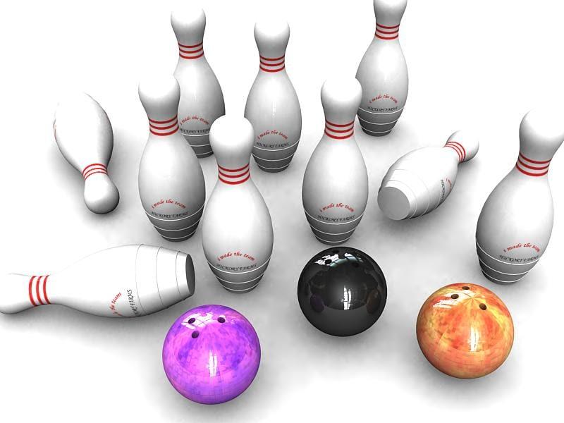 bowling pin ball 3d model