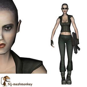 ready female character obj