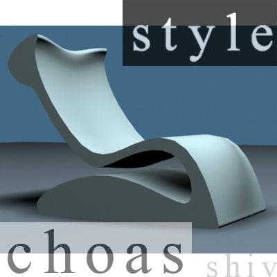 stylish chairs 3d model