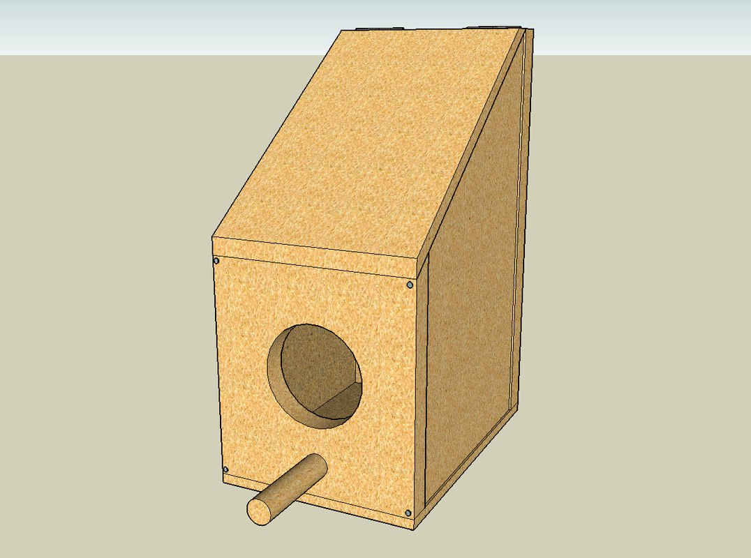 bird birdhouse house 3d model