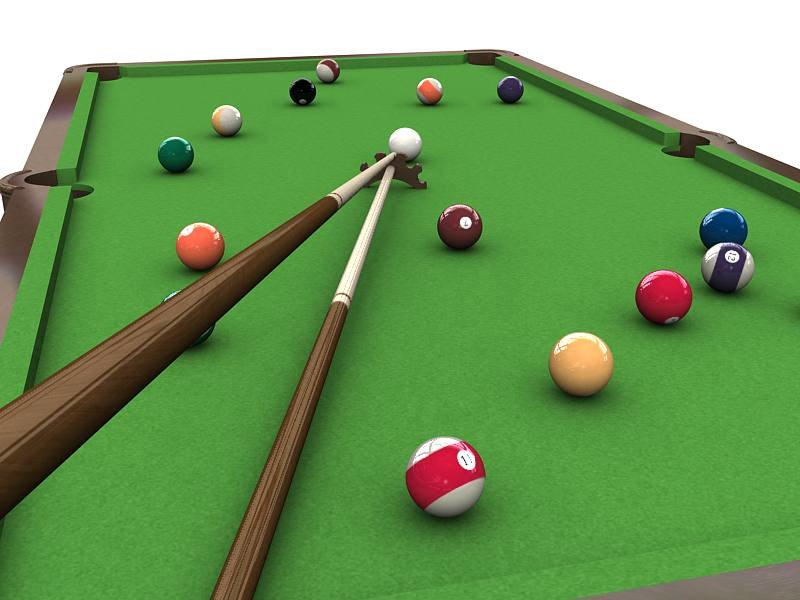 3ds pool table cue stick