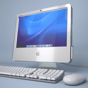 apple imac g5 core 3d model