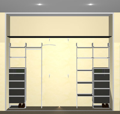 shelving bedroom office dwg