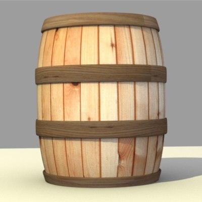3d barrel vat model