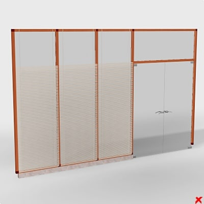 glass doors 3d max