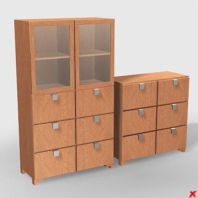 cabinet office 3d model