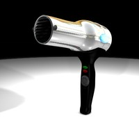3d model of hair dryer