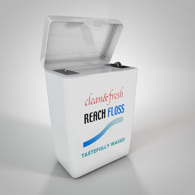 3ds max clean dental floss