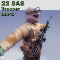 3d sas rifle model