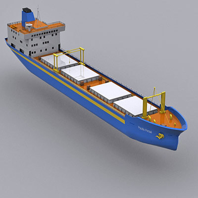 3d cargo ship transport nuclear model