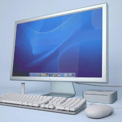 apple mac mini set 3d model