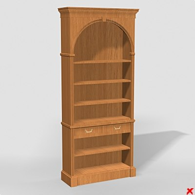 3d bookcase cabinet