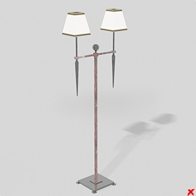 3d model lamp standing