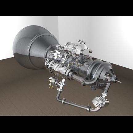 3d model rocket engine