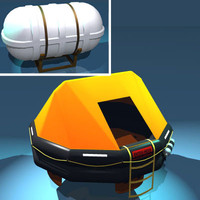 Rescue liferaft set